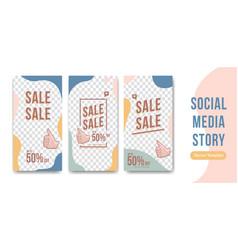 Editable social media story design template in vector