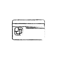 Figure credit card to save money in the bank vector