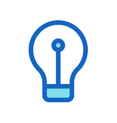 filled line icon blue color vector image
