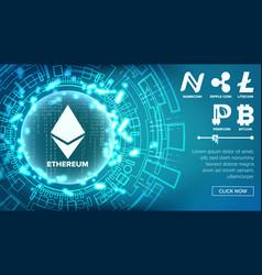fintech blockchain concept bitcoin dollar vector image