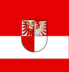 Flag of barnim in brandenburg germany vector