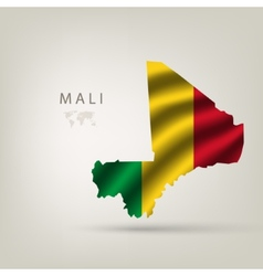 Flag of Mali as the country vector