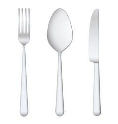 fork spoon knife vector image
