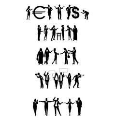 groups of business people vector image