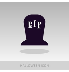 Halloween grave icon vector