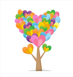 Heart Tree 03 380x400 vector image