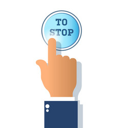 icon stop button isolated on white background vector image