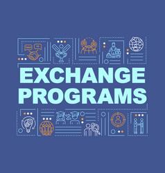 International exchange program word concepts vector