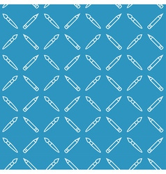 Linear art tools flat blue seamless pattern vector image