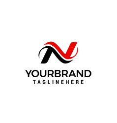 logo for letter n design concept template vector image