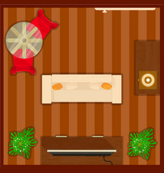 lounge concept banner cartoon style vector image