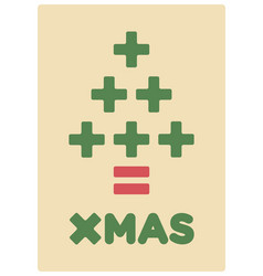 math christmas card vector image
