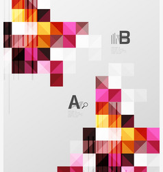 modern square abstract background vector image