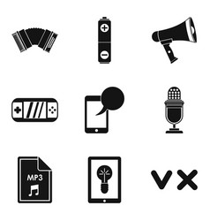 Music genre icons set simple style vector