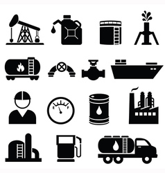 Oil and petrol icons vector image vector image