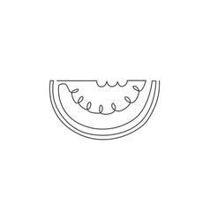 one continuous line drawing sliced healthy vector image