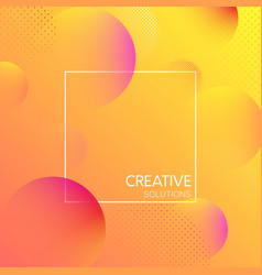 orange creative solutions background with bubbles vector image