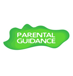 Parental guidance stamp isolated on white vector