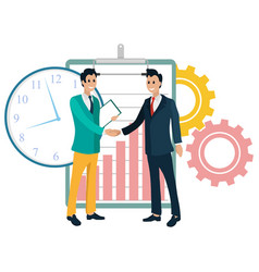 Partners business projects handshake collabs vector