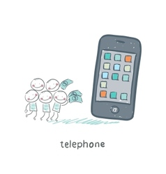 Phones vector image