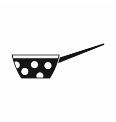 Pot with white dots and handle icon simple style vector image