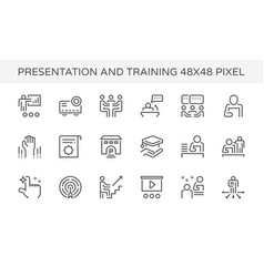 Presentation training icon vector