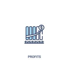 Profits concept 2 colored icon simple line vector