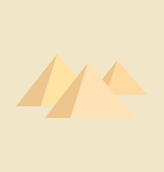 Pyramids on brown background vector
