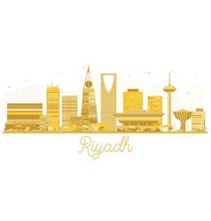 riyadh city skyline golden silhouette vector image