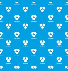 Round venn diagram pattern seamless blue vector