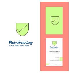 Sheild creative logo and business card vertical vector