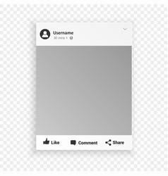 Social network photo frame for friends internet vector