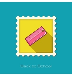 Straightedge flat stamp vector