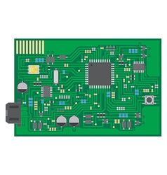 Surface mount technology PCBA top view vector image