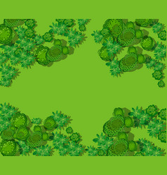 top view countryside with forest vector image