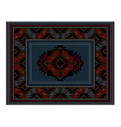 Vintage carpet of blue in the middle vector