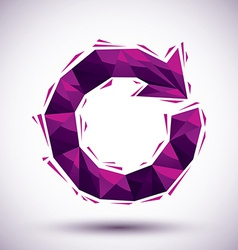 Violet reload geometric icon made in 3d modern vector