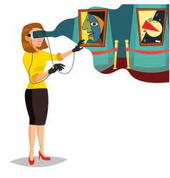 Virtual reality wear virtual reality vector