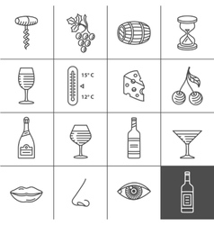 Wine icons set vector