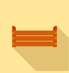wood garden box icon flat style vector image