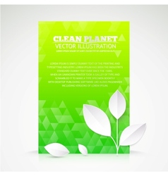 Green paper leaf abstract wallpaper vector image