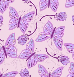 seamless butterfly camouflage vector image vector image