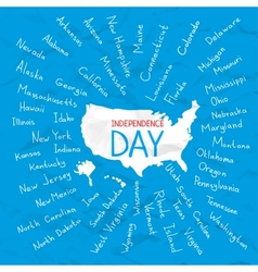 USA states independence day vector image
