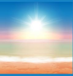 beautiful sea sunset vector image vector image