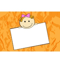 cute cartoon girl vector image vector image