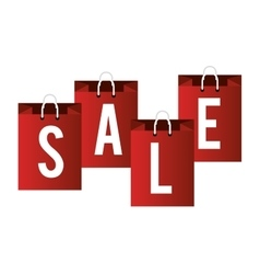 lettering sale bag shop icons vector image vector image