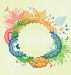 Modern Flower Frame vector image vector image