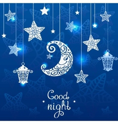 Night blue vector image