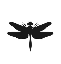 Silhouette of a Dragonfly vector image