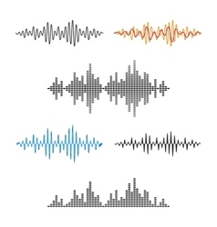 Waveform Shape Soundwave Audio Wave Graph Set vector image vector image